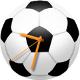 サッカーボール時計